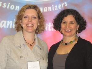 Laura with organizing guru Julie Morgenstern (on R) in San Diego
