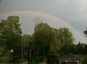 Rainbow -- From a friend's window